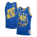 Camiseta Golden State Warriors Nate Thurmond NO 42 Mitchell & Ness 1966-67 Azul