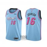 Camiseta Miami Heat James Johnson NO 16 Ciudad 2019-20 Azul
