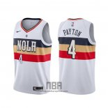 Camiseta New Orleans Pelicans Elfrid Payton NO 55 Earned Blanco