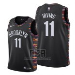 Camiseta Nino Brooklyn Nets Kyrie Irving NO 11 Ciudad 2019-20 Negro