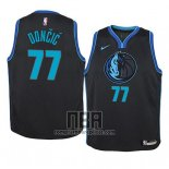 Camiseta Nino Dallas Mavericks Luka Doncic NO 77 Ciudad 2018-19 Azul
