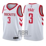 Camiseta Nino Houston Rockets Chris Paul NO 3 Association 2017-18 Blanco