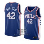 Camiseta Philadelphia 76ers Al Horford NO 42 Icon 2019-20 Azul