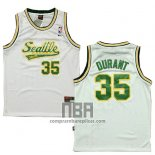 Camiseta Seattle SuperSonics Kevin Durant NO 35 Historic Blanco2