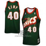 Camiseta Seattle SuperSonics Shawn Kemp NO 40 Historic Retro Verde