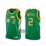 Camiseta Utah Jazz Joe Ingles NO 2 Earned 2020-21 Verde