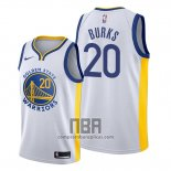 Camiseta Golden State Warriors Alec Burks NO 20 Association 2019-20 Blanco
