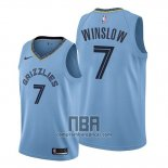 Camiseta Memphis Grizzlies Justise Winslow NO 7 Statement 2019-20 Azul