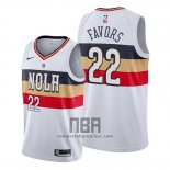 Camiseta New Orleans Pelicans Derrick Favors NO 22 Earned Blanco