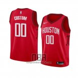 Camiseta Nino Houston Rockets Personalizada Earned 2018-19 Rojo