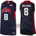 Camiseta USA 2012 Deron Williams NO 8 Negro