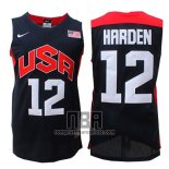 Camiseta USA 2012 James Harden NO 12 Negro
