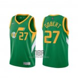 Camiseta Utah Jazz Rudy Gobert NO 27 Earned 2020-21 Verde
