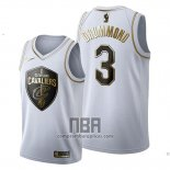 Camiseta Golden Edition Cleveland Cavaliers Andre Drummond NO 3 2019-20 Blanco