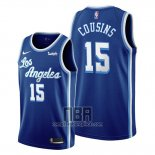 Camiseta Los Angeles Lakers Demarcus Cousins NO 15 Classic Edition 2019-20 Azul