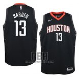 Camiseta Nino Houston Rockets James Harden NO 13 Statement 2017-18 Negro