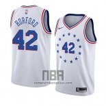 Camiseta Philadelphia 76ers Al Horford NO 42 Earned 2019-20 Blanco