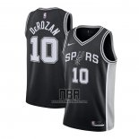 Camiseta San Antonio Spurs DeMar DeRozan NO 10 Icon 2020-21 Negro