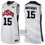 Camiseta USA 2012 Carmelo Anthony NO 15 Blanco