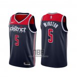 Camiseta Washington Wizards Cassius Winston NO 5 Association 2020-21 Azul
