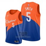 Camiseta Cleveland Cavaliers J.r. Smith NO 5 Ciudad Edition Azul