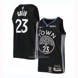 Camiseta Golden State Warriors Draymond Green NO 23 Ciudad 2019-20 Negro