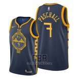 Camiseta Golden State Warriors Eric Paschall NO 7 Ciudad 2019-20 Azul
