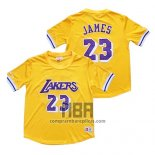 Camiseta Manga Corta Los Angeles Lakers Lebron James NO 23 Amarillo