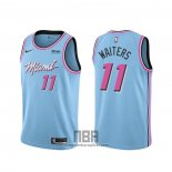 Camiseta Miami Heat Dion Waiters NO 11 Ciudad 2019-20 Azul