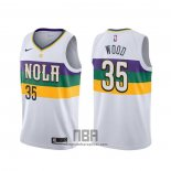 Camiseta New Orleans Pelicans Christian Wood NO 35 Ciudad Blanco
