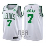 Camiseta Nino Boston Celtics Jaylen Brown NO 7 Association 2017-18 Blanco