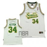 Camiseta Seattle SuperSonics Ray Allen NO 34 Historic Blanco