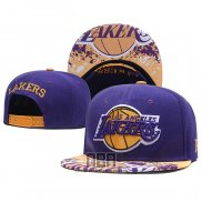 Gorra Los Angeles Lakers Violeta Amarillo2