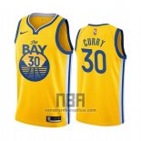 Camiseta Golden State Warriors Stephen Curry NO 30 Ciudad 2019-20 Amarillo