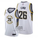Camiseta Indiana Pacers Jeremy Lamb NO 26 Association Blanco