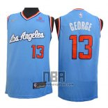Camiseta Los Angeles Clippers Paul George NO 13 2019-20 Azul