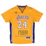 Camiseta Manga Corta Los Angeles Lakers Kobe Bryant NO 24 Amarillo