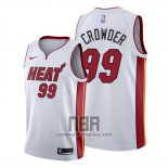 Camiseta Miami Heat Jae Crowder NO 99 Association 2019-20 Blanco