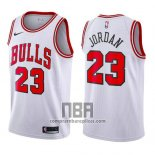 Camiseta Nino Chicago Bulls Michael Jordan NO 23 2017-18 Blanco