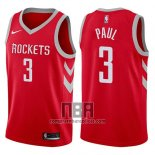 Camiseta Nino Houston Rockets Chris Paul NO 3 2017-18 Rojo