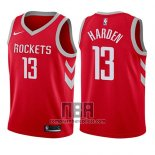 Camiseta Nino Houston Rockets James Harden NO 13 Icon 2017-18 Rojo