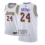 Camiseta Nino Los Angeles Lakers Kobe Bryant NO 24 Association 2018-19 Blanco