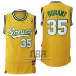 Camiseta Seattle SuperSonics Kevin Durant NO 35 Historic Amarillo2