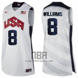 Camiseta USA 2012 Deron Williams NO 8 Blanco
