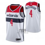 Camiseta Washington Wizards Russell Westbrook NO 4 Association 2020-21 Blanco