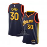 Camiseta Golden State Warriors Stephen Curry NO 30 Ciudad 2020-21 Blanco