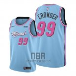Camiseta Miami Heat Jae Crowder NO 99 Ciudad 2019-20 Azul