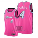 Camiseta Miami Heat Kz Okpala NO 4 Earned 2019-20 Rosa