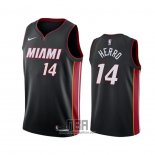 Camiseta Miami Heat Tyler Herro NO 14 Icon Negro