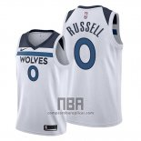 Camiseta Minnesota Timberwolves D'angelo Russell NO 0 Association 2019-20 Blanco